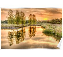 Sweet Summer Sleepy Water Sunset Poster