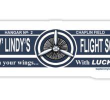 Lucky Lindy's Flight School Sticker