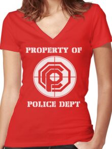 OCP Police Department Women's Fitted V-Neck T-Shirt