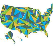 Abstract America Summer Nights by Travla Creative