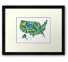 Abstract America Summer Nights Framed Print