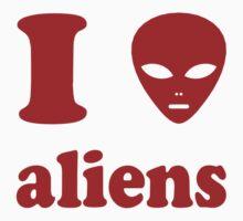 I Love Aliens Kids Clothes