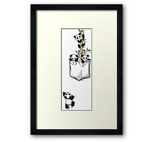 POCKET PANDAS Framed Print
