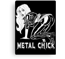 Metal Chick Leather Rebel Pinup Canvas Print