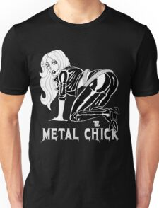 Metal Chick Leather Rebel Pinup T-Shirt