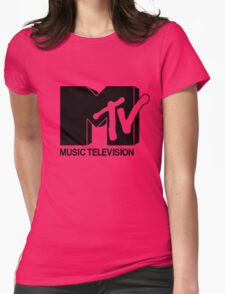 Black MTV Womens Fitted T-Shirt