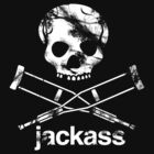 Jackass Knoxville Skull And Crutches by GreenMoon
