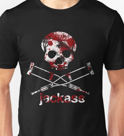 Jackass Knoxville Skull And Crutches Unisex T-Shirt