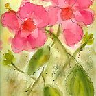 Tropical Hibiscus Watercolor by AngelaBishop