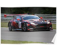 Poole and Abra - Aston Martin GT3 Vantage Poster