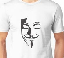 V For Vendetta Silhouette Unisex T-Shirt