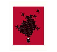 Ninja Tesselations Art Print