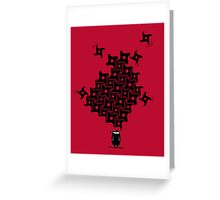 Ninja Tesselations Greeting Card