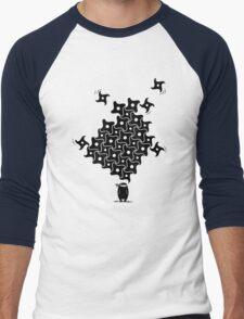Ninja Tesselations Men's Baseball ¾ T-Shirt