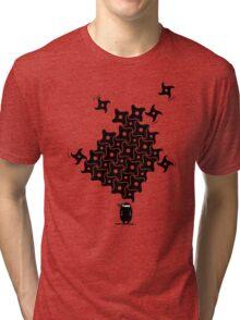 Ninja Tesselations Tri-blend T-Shirt
