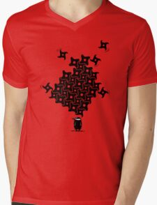 Ninja Tesselations Mens V-Neck T-Shirt