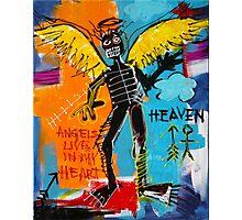 BASQUIAT ANGEL BY AUGUSTO SANCHEZ Photographic Print