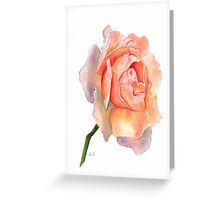 Multicolor Rose Watercolor Greeting Card