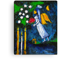 Marc Chagall Angel by Augusto Sanchez Canvas Print