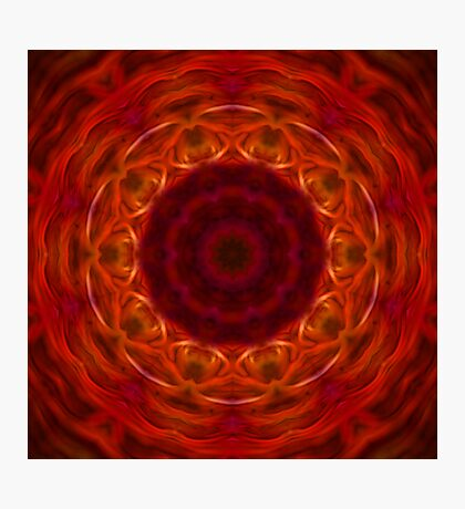 Orange and Red Abstract Tile 10 Photographic Print