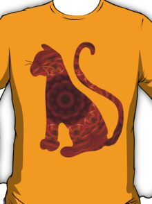 Orange and Red Abstract Tile 10 T-Shirt