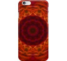 Orange and Red Abstract Tile 10 iPhone Case/Skin
