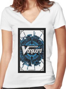 Cardfight-Vanguard Women's Fitted V-Neck T-Shirt