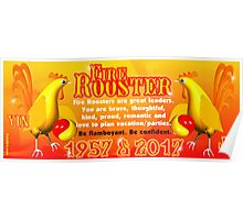 1957 2017 Chinese zodiac born in year of Fire Rooster  Poster