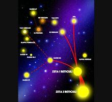 Zeta Reticuli Star Map Unisex T-Shirt