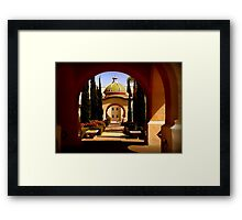 Through Arches Does Sunlight Play Framed Print