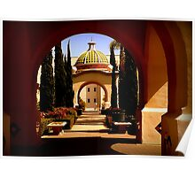 Through Arches Does Sunlight Play Poster