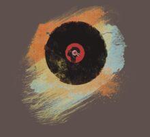 Vinyl Record Retro T-Shirt - Vinyl Records New Grunge Design Kids Clothes