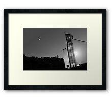 Moony church Framed Print