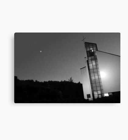 Moony church Canvas Print