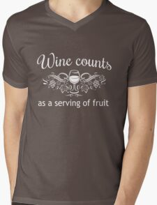Wine counts as a serving of fruit Mens V-Neck T-Shirt