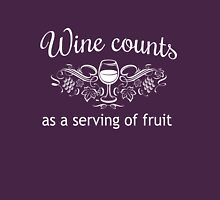 Wine counts as a serving of fruit Womens Fitted T-Shirt