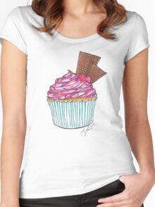 Cupcake Sundae Women's Fitted Scoop T-Shirt