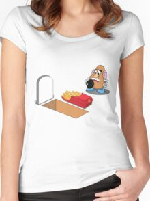 Toy Story Mr Potato Head Burying his dead Women's Fitted Scoop T-Shirt