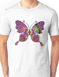 Colorful Abstract Retro Butterfly Unisex T-Shirt