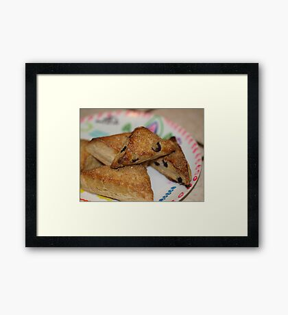 Blueberry Scones by Chef Jami Cakes Framed Print