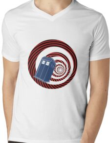 TARDIS Mod Vortex Mens V-Neck T-Shirt