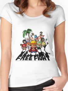 one piece free fight  Women's Fitted Scoop T-Shirt