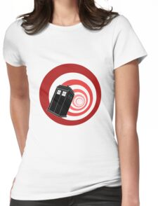TARDIS Mod Vortex Womens Fitted T-Shirt