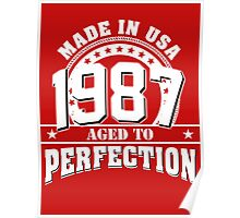 1987 aged to perfection Poster