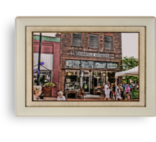 Burrville Antiques ... with a matted and framed look Canvas Print