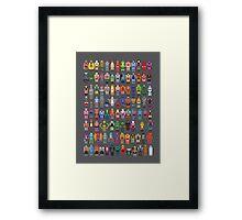 8-bit Masters Framed Print
