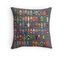 8-bit Masters Throw Pillow
