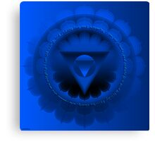 Chakra Vishuddi COlour Ray Blue Canvas Print