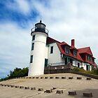 Lake Michigan Light House  by Elizabeth Aubuchon