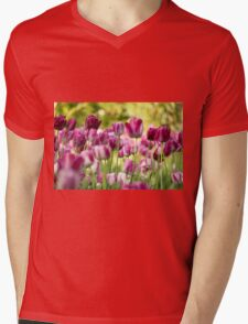 colorful tulip flower Mens V-Neck T-Shirt